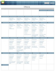 Events - Calendar View