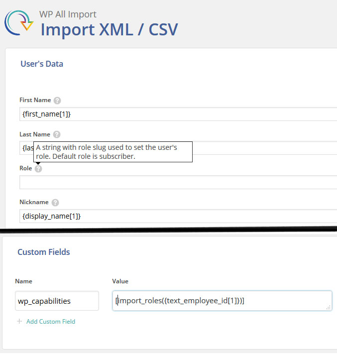 Managing users with multiple roles via WP All Import